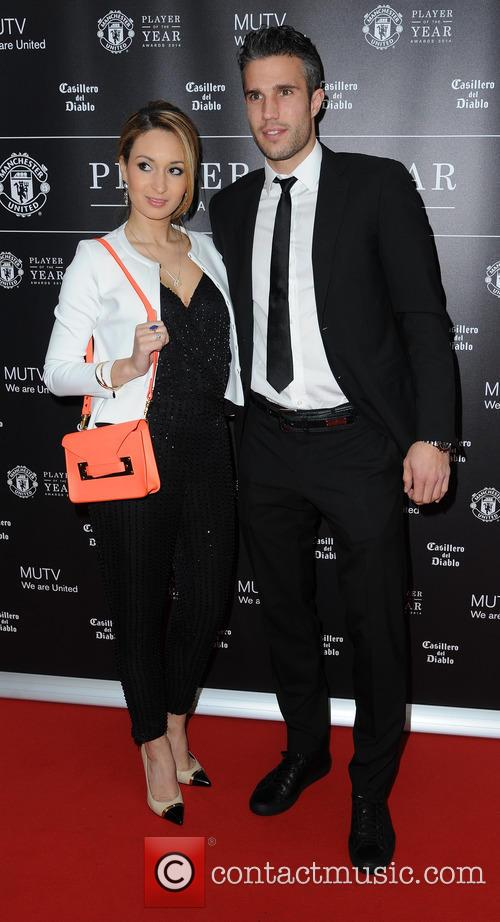 Manchester United, Robin Van Persie and Wife Bouchra 10