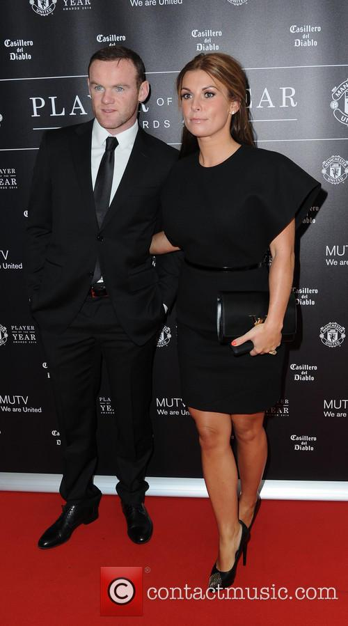 wayne rooney coleen rooney manchester united player of 4187144