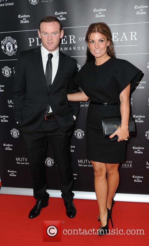 wayne rooney coleen rooney manchester united player of 4187170