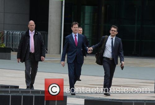 Nick Clegg Visits BBC Media City