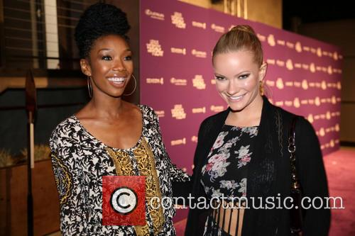 Brandy Norwood and Caitlin O'Connor at the 'Lexus...