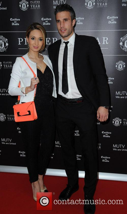 Manchester United, Robin Van Persie and Wife Bouchra 5