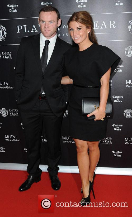 wayne rooney coleen rooney manchester united player of 4187122