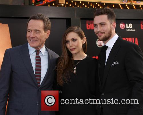 Bryan Cranston, Elizabeth Olsen and Aaron Taylor-Johnson 2