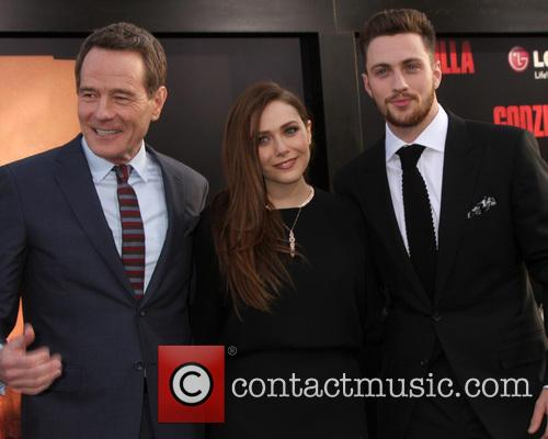 Bryan Cranston, Elizabeth Olsen and Aaron Taylor-Johnson 3