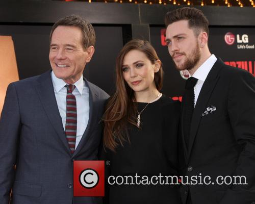 Bryan Cranston, Elizabeth Olsen and Aaron Taylor-Johnson 4