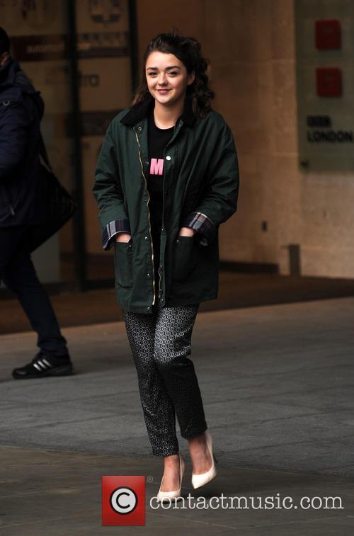 Maisie Williams at  BBC Radio 1