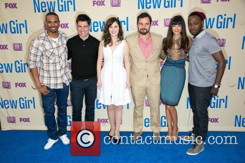 Damon Wayans, Jr., Max Greenfield, Zooey Deschanel, Jake Johnson, Hannah Simone and Lamorne Morris 11