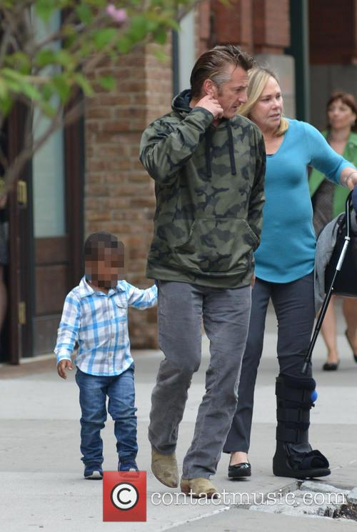 Sean Penn and Jackson Theron 2