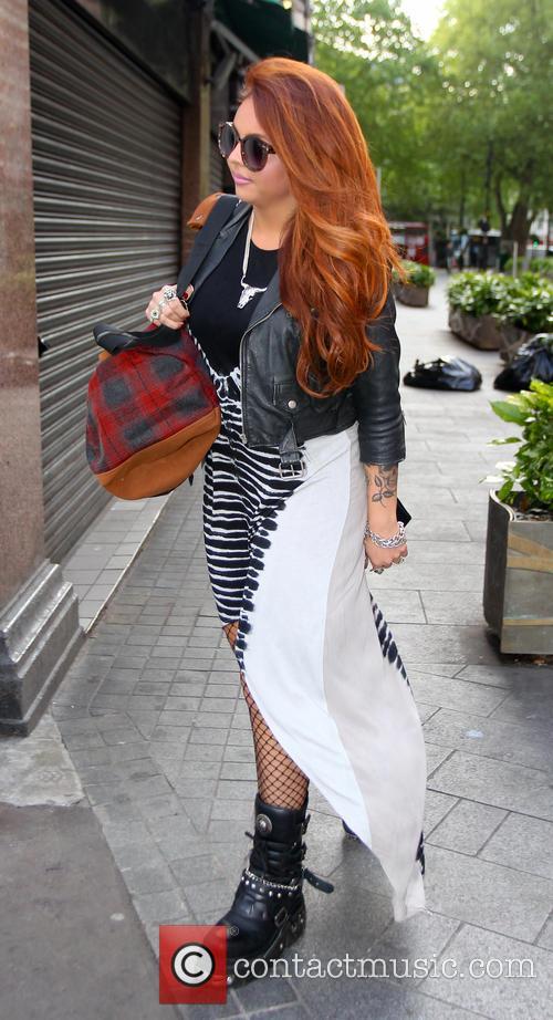 Little Mix arrive at Capital FM