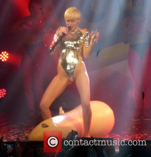 Miley Cyrus performs live at G-A-Y