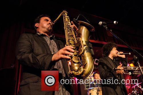 Ozomatli performs live at B.B. King Blues Club...