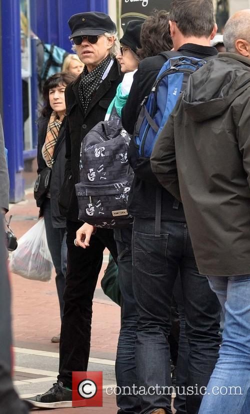 Bob Geldof out in Dublin