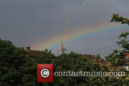 Double rainbow appears over East London