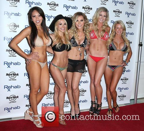 Caya Hefner, Dani Mathers, Crystal Hefner, Carly Lauren and Amanda Vanderpool