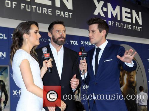 X-men and Hugh Jackman Being Interviewed 4