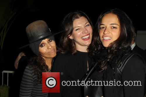 Linda Perry, Milla Jovovich and Michelle Rodriguez 2