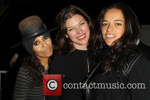 Linda Perry, Milla Jovovich and Michelle Rodriguez 1
