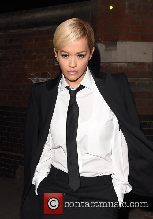Rita Ora Seen wearing Suit and a Tie