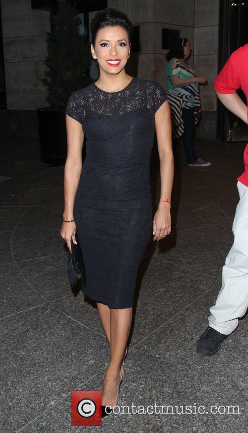 Eva Longoria leaves Four Seasons Hotel New York