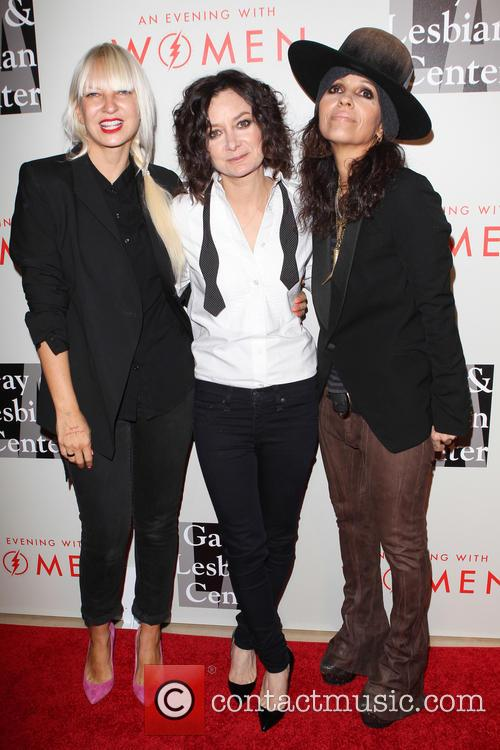 Sia, Sara Gilbert and Linda Perry 5