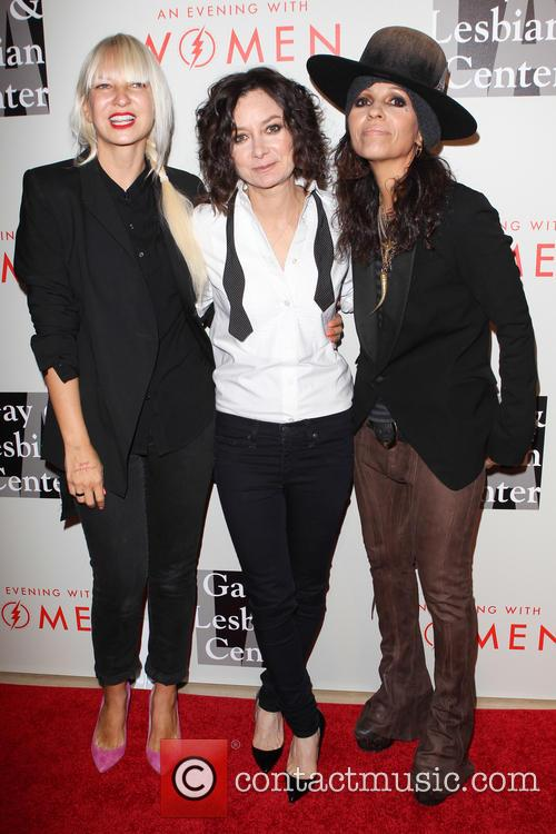 Sia, Sara Gilbert, Linda Perry, The Beverly Hilton