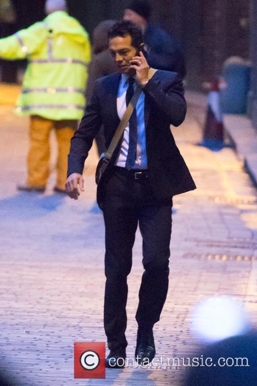Benjamin Bratt filming TV series '24'