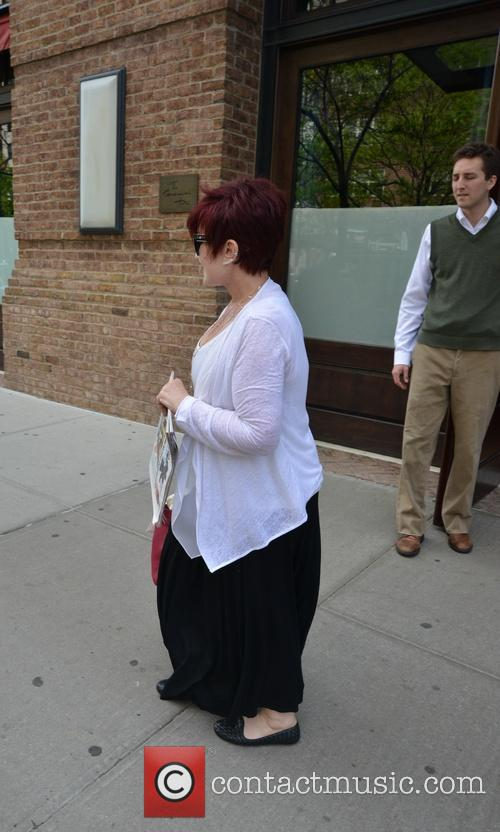 Sharon Osborne leaving her hotel