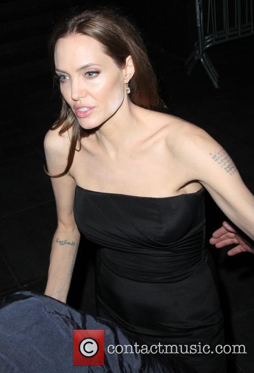 Brad Pitt and Angelina Jolie leave the Ziegfeld...