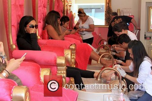Lilly Ghalichi visits a nail salon