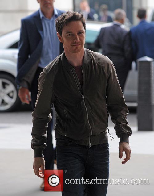 James McAvoy arrives at Radio 1