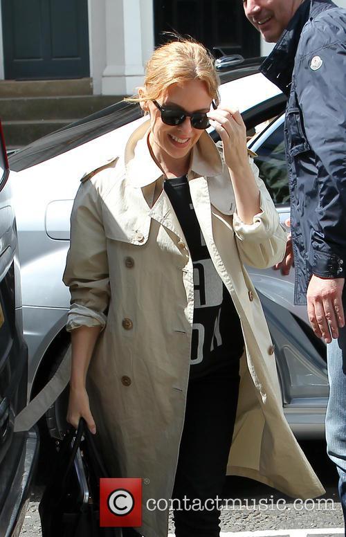 Kylie studio arrival