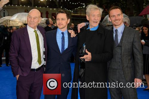 Sir Patrick Stewart, James Mcavoy, Sir Ian Mckellen and Michael Fassbender 3