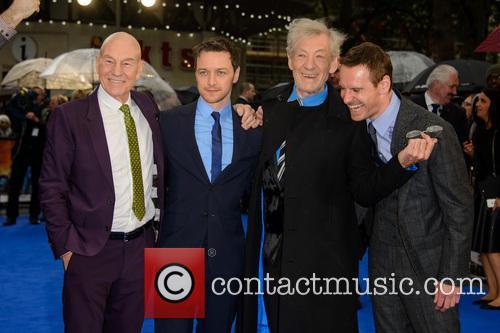 Sir Patrick Stewart, James Mcavoy, Sir Ian Mckellen and Michael Fassbender 4