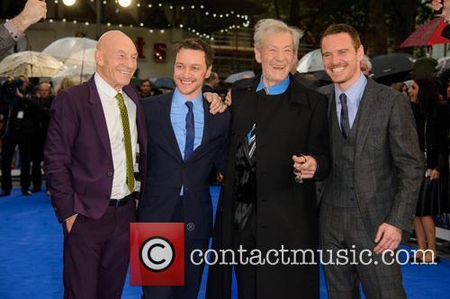 Sir Patrick Stewart, James Mcavoy, Sir Ian Mckellen and Michael Fassbender 7