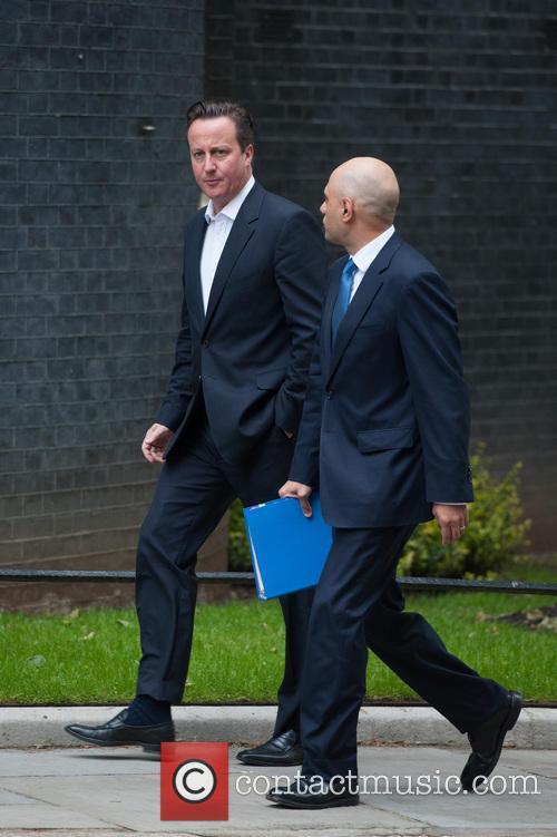 David Cameron and Sajid Javid 2