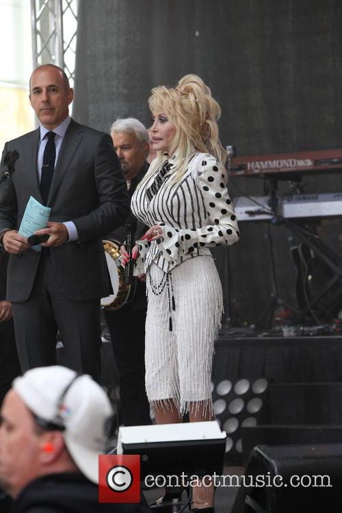 Matt Lauer and Dolly Parton 2