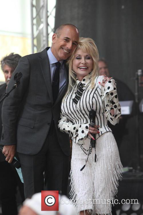 Matt Lauer and Dolly Parton 3
