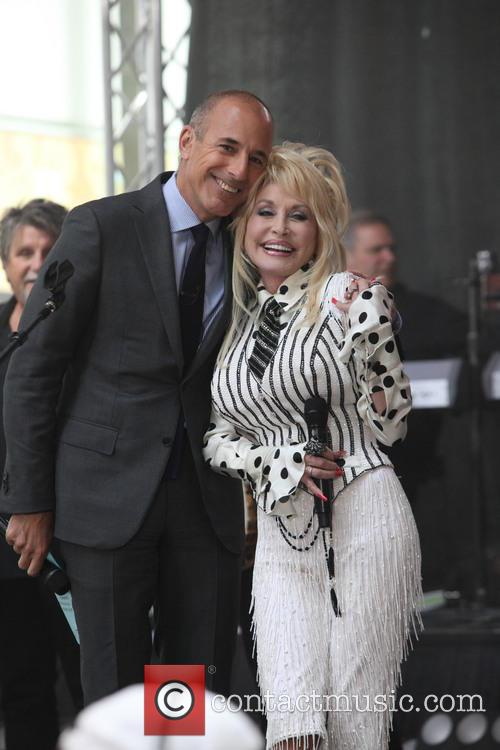 Matt Lauer and Dolly Parton 5