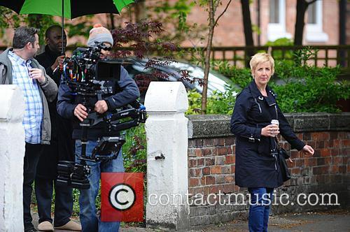 Julie Hesmondhalgh films scenes for 'Cucumber'
