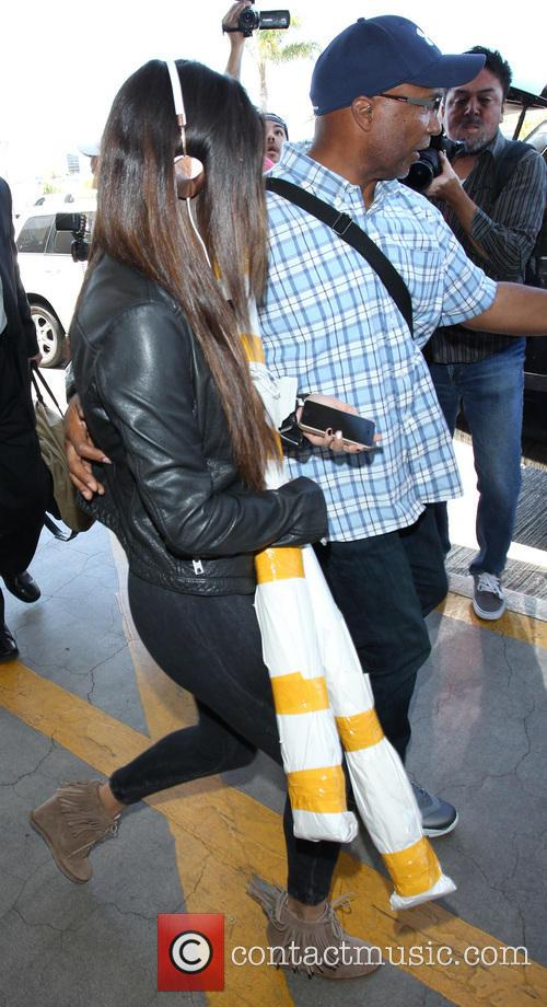 Selena Gomez at Los Angeles International Airport