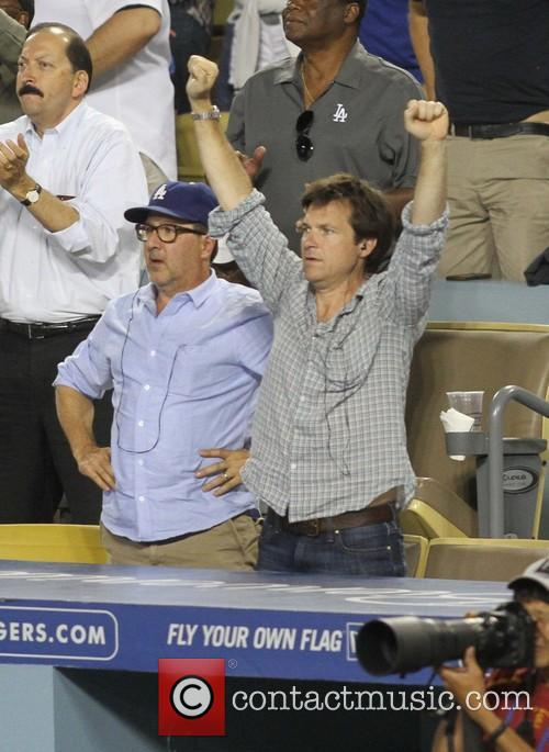 Celeb at Dodgers game.