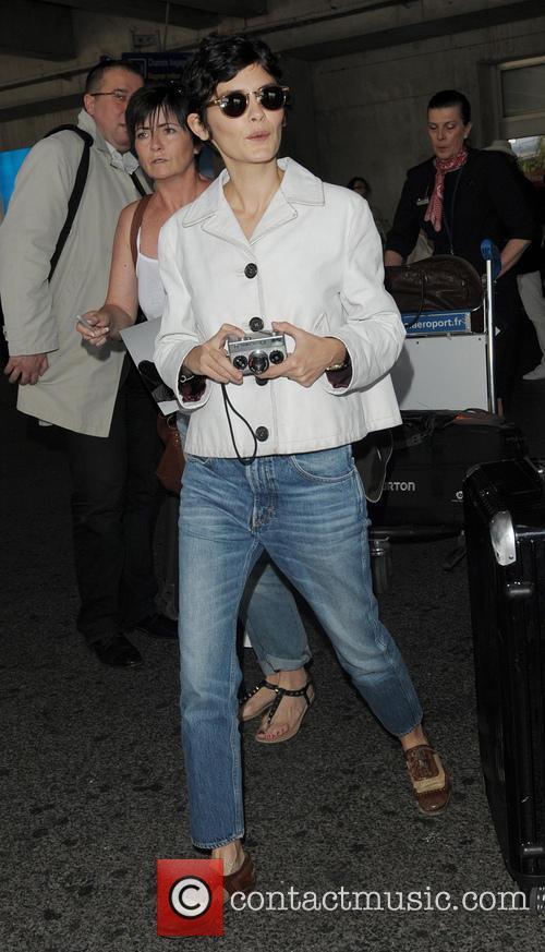 Audrey Tautou arrives at Nice Airport