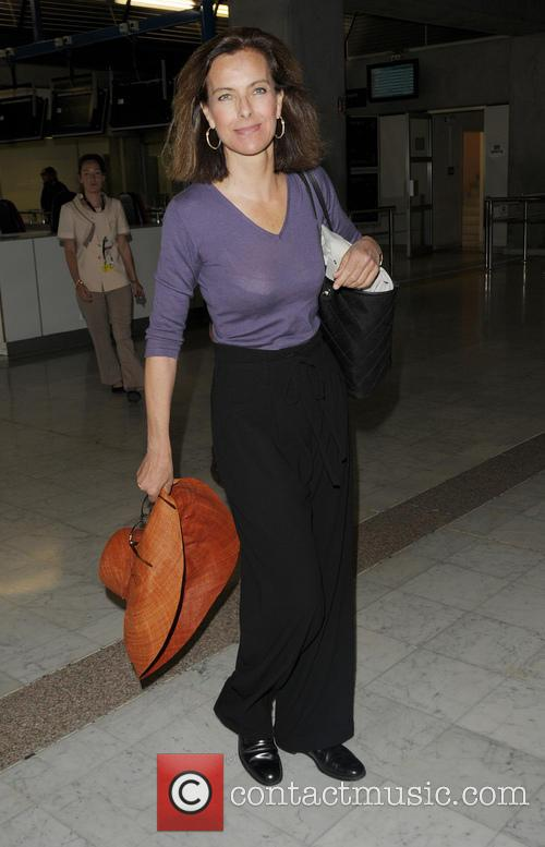 Carole Bouquet Arriving at Nice Airport