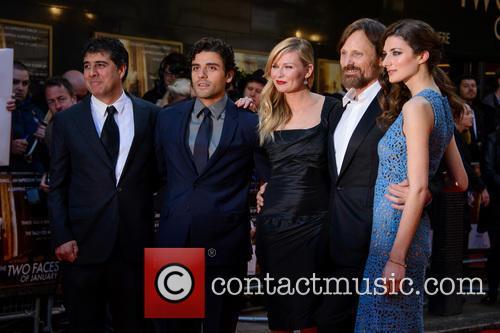 Hossein Amini, Oscar Isaac, Kirsten Dunst, Viggo Mortensen and Daisy Bevan 2