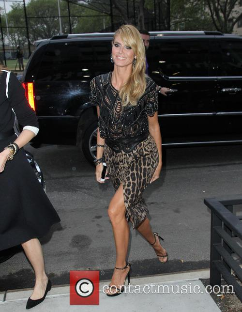 Heidi Klum Spotted Wearing Roberto Cavalli Fashion