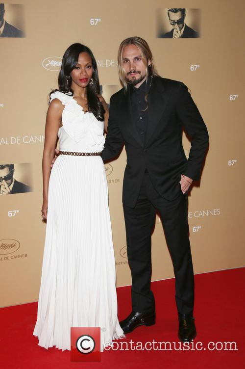 Zoe Saldana and Husband Marco Perego 9