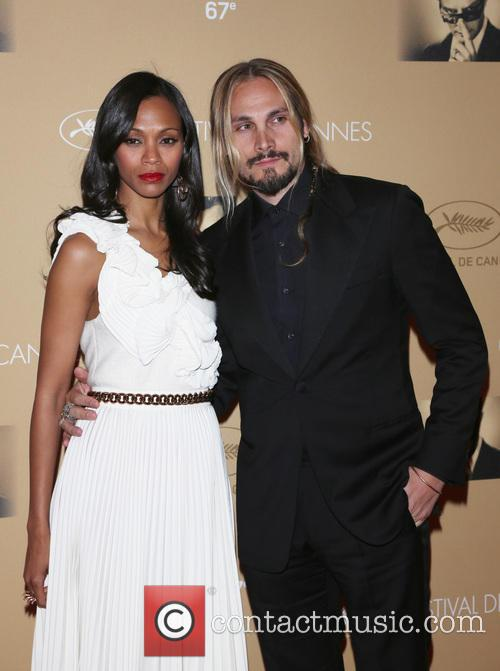 Zoe Saldana and Husband Marco Perego 10