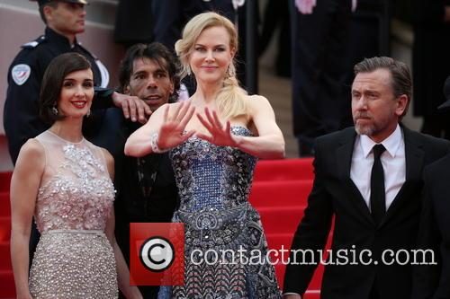 Paz Vega (l-r), Nicole Kidman, Tim Roth director Olivier Dahan, Cannes Film Festival
