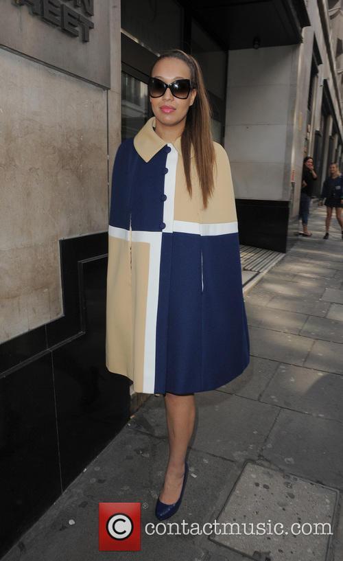 Rebecca Ferguson leaving the Sony Music offices